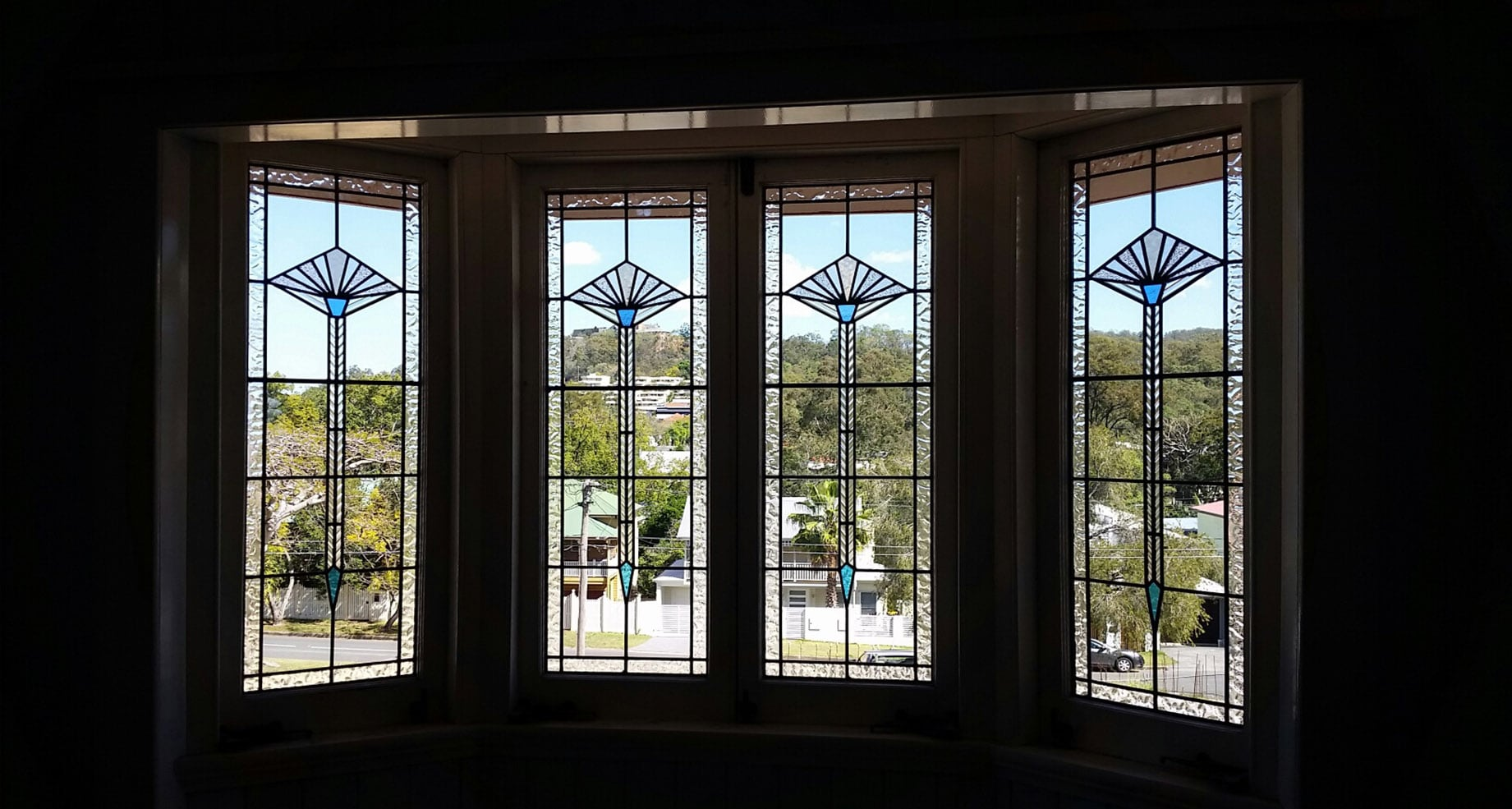 Bay Window Leadlight Set